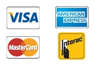All Major Credit Cards and Interac